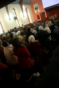 Congregation during morning service at Airdrie Baptist Church