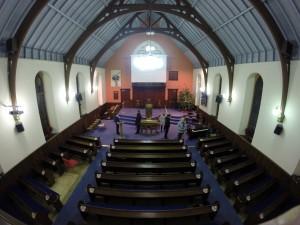 Airdrie Baptist Church interior