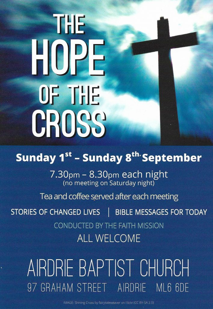 The Hope of the Cross flyer