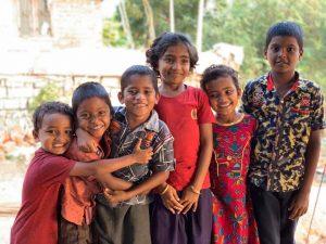 Children at a rural clinic