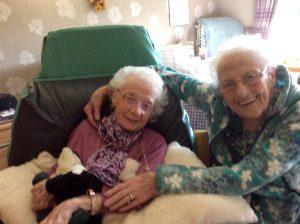 Ann Cleland and friend